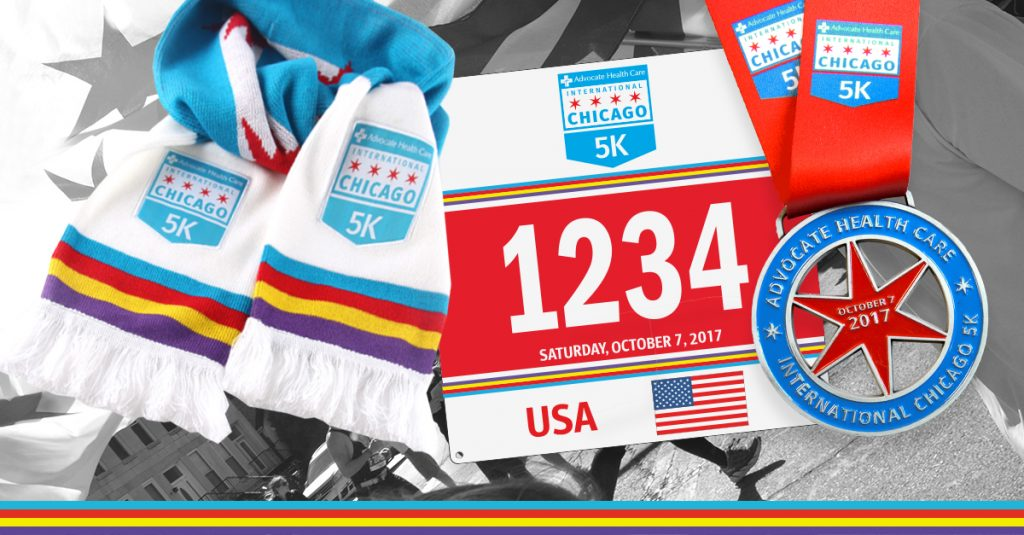 2017 commemorative scarf, bib and medal
